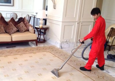 Carpet cleaning in a hotel