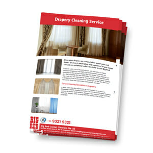 Drapery Cleaning in Singapore Brochure