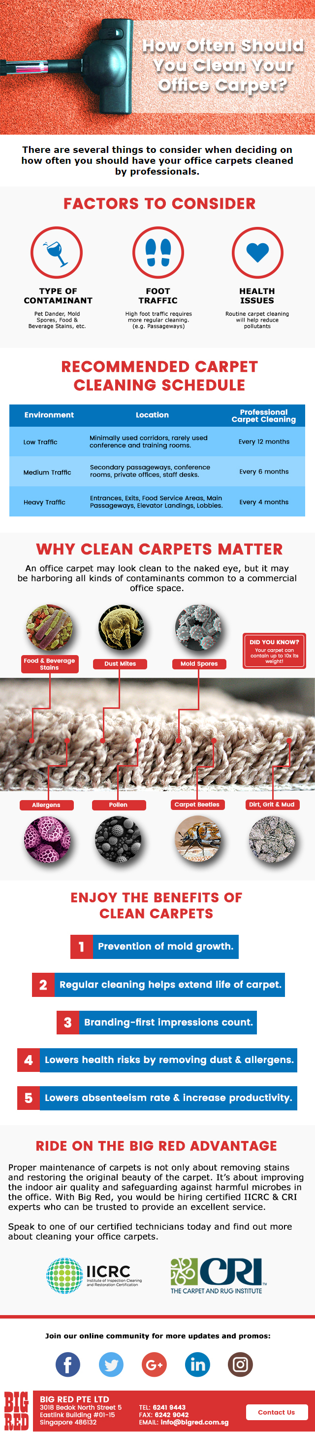How Often Should You Clean Residential Carpets Singapore